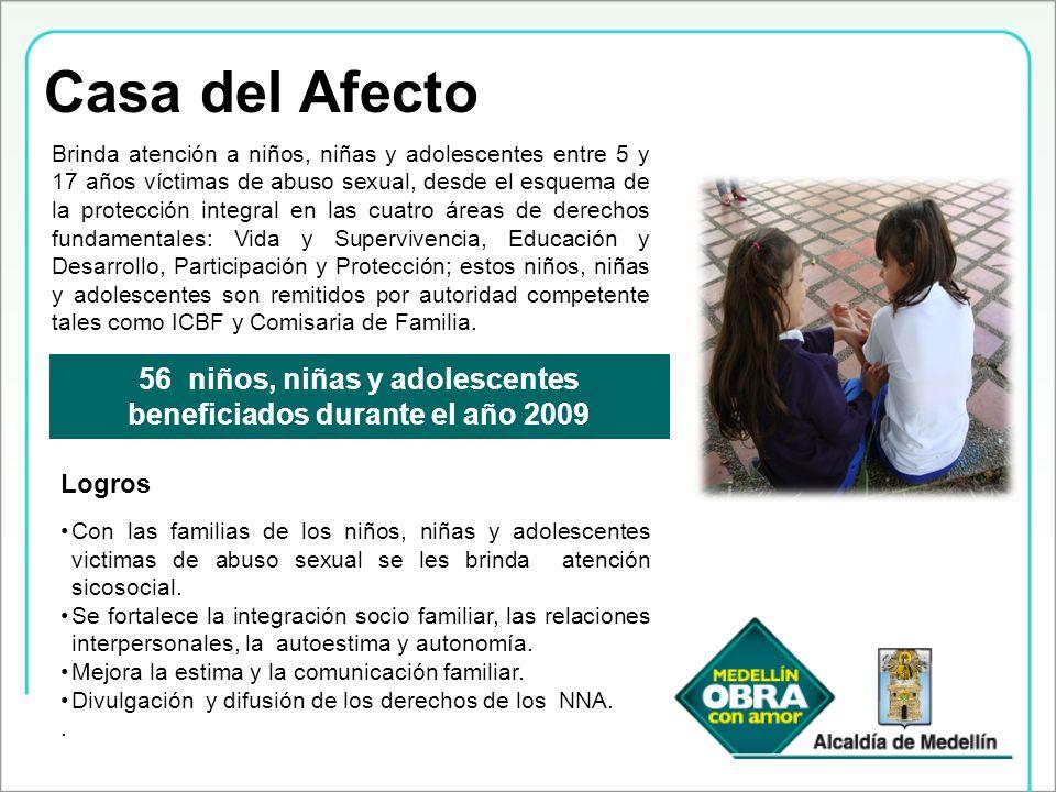 Casa del Afecto Brinda atención a niños, niñas y adolescentes entre 5 y 17 años víctimas de abuso sexual, desde el esquema de la protección integral e