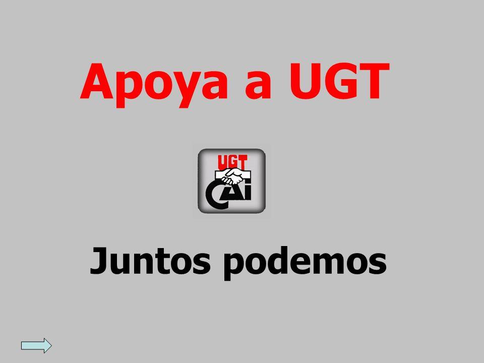 Apoya a UGT Juntos podemos