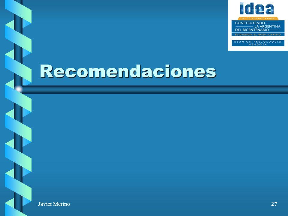Javier Merino27 Recomendaciones