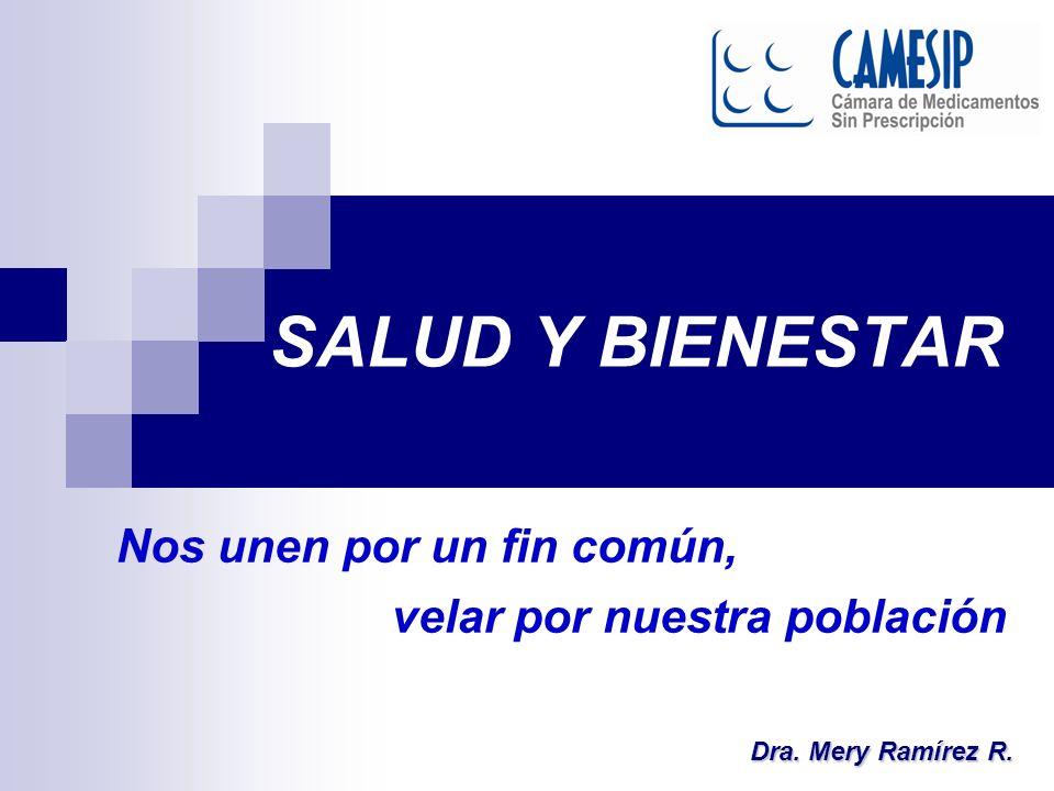 SALUD Y BIENESTAR Dra. Mery Ramírez R. Nos unen por un fin común, velar por nuestra población