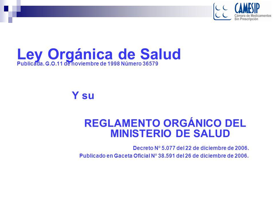 Ley de Medicamentos Gaceta Oficial Nº 37.006 de fecha 3 de agosto de 2000 Titulo I Disposiciones generales Artículo 2°.