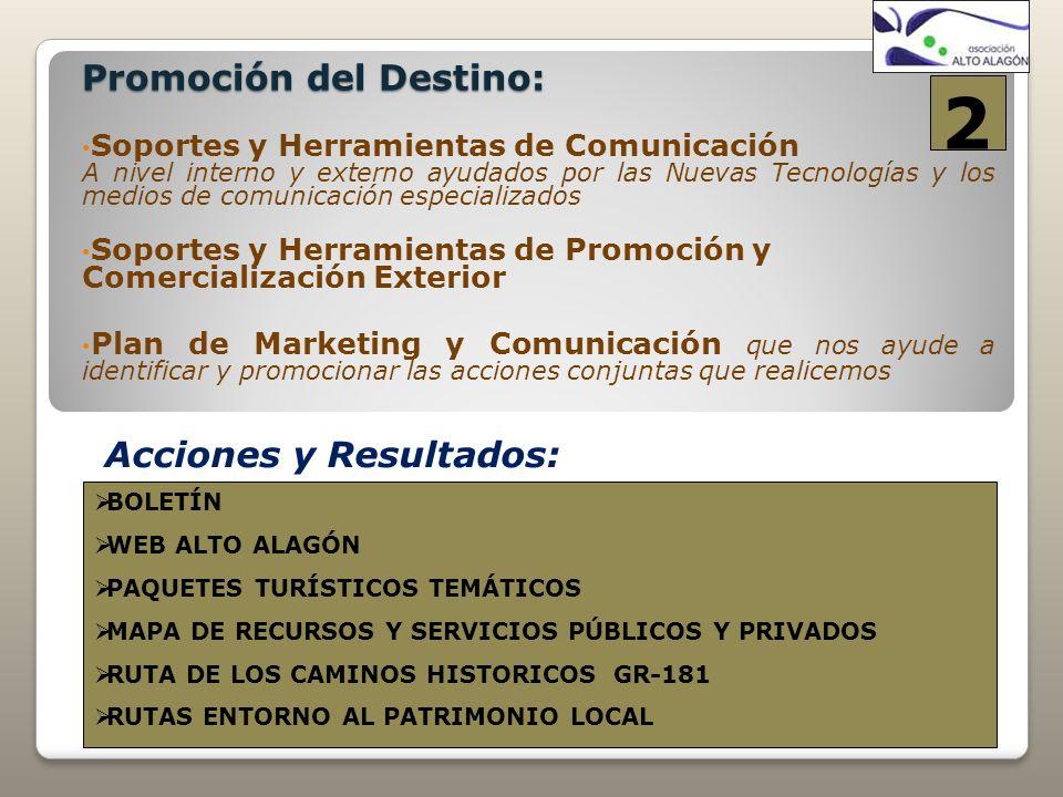 Promoción del Destino: Soportes y Herramientas de Comunicación A nivel interno y externo ayudados por las Nuevas Tecnologías y los medios de comunicac
