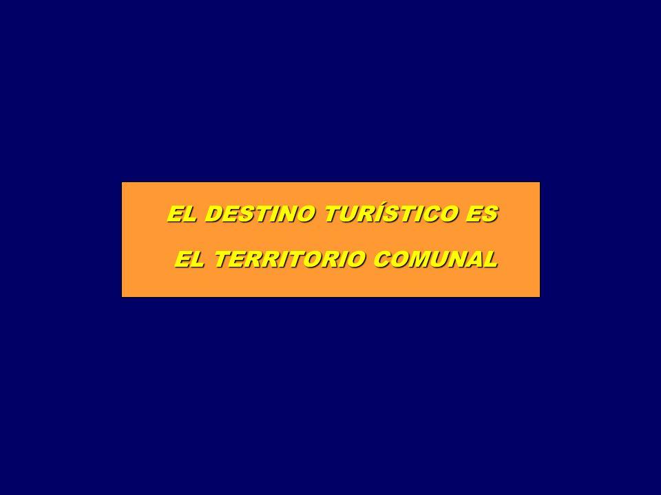 EL DESTINO TURÍSTICO ES EL TERRITORIO COMUNAL EL TERRITORIO COMUNAL