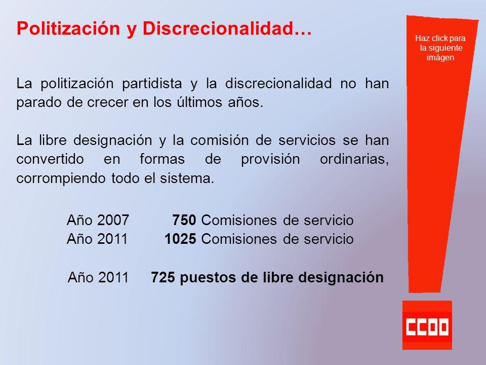 elecciones sindicales 2011 Administración Autonómica Ahora es el momento de defender la carrera, la promoción y la negociación Haz click para la siguiente imágen