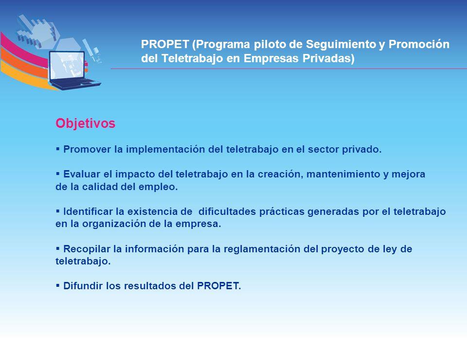 Promover la implementación del teletrabajo en el sector privado. Evaluar el impacto del teletrabajo en la creación, mantenimiento y mejora de la calid