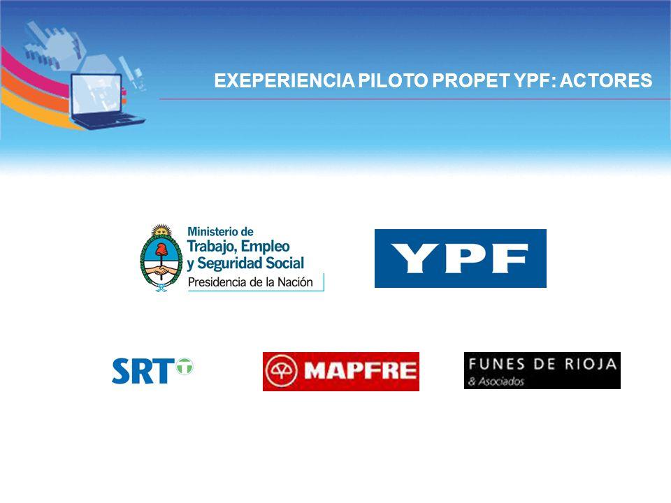 EXEPERIENCIA PILOTO PROPET YPF: ACTORES