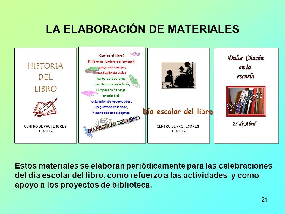 21 LA ELABORACIÓN DE MATERIALES HISTORIA DEL LIBRO CENTRO DE PROFESORES TRUJILLO HISTORIA DEL LIBRO CENTRO DE PROFESORES TRUJILLO Qué es el libro? El