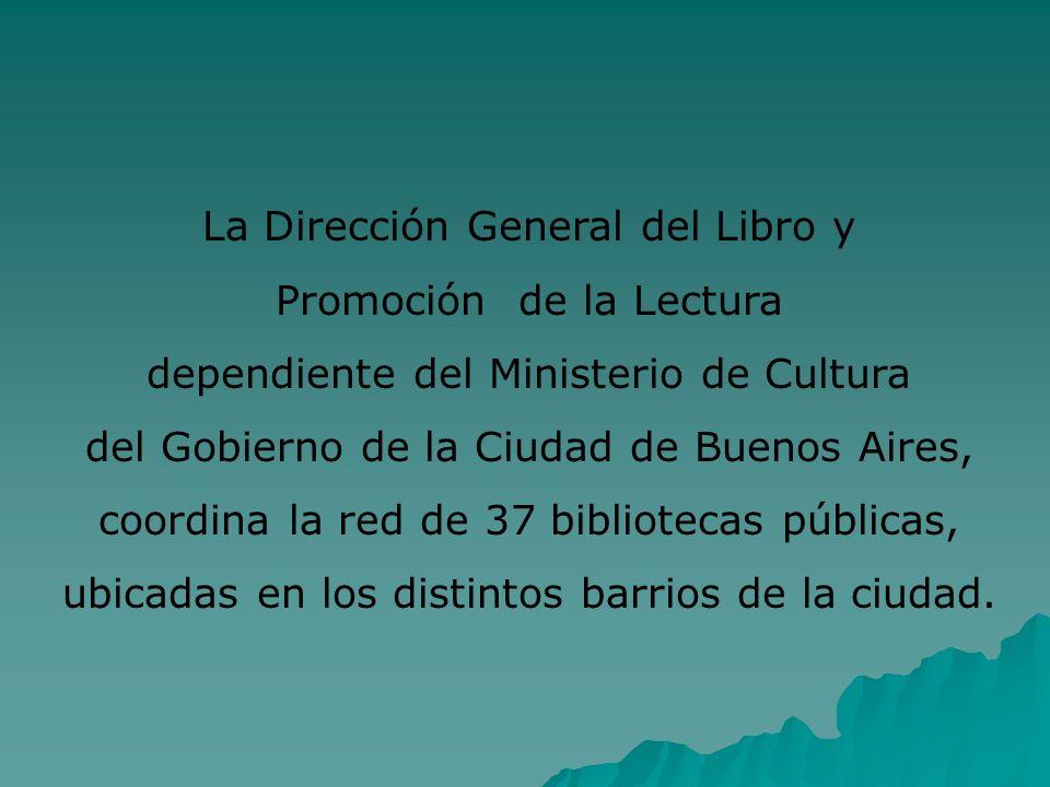 La Dirección General del Libro y Promoción de la Lectura dependiente del Ministerio de Cultura del Gobierno de la Ciudad de Buenos Aires, coordina la