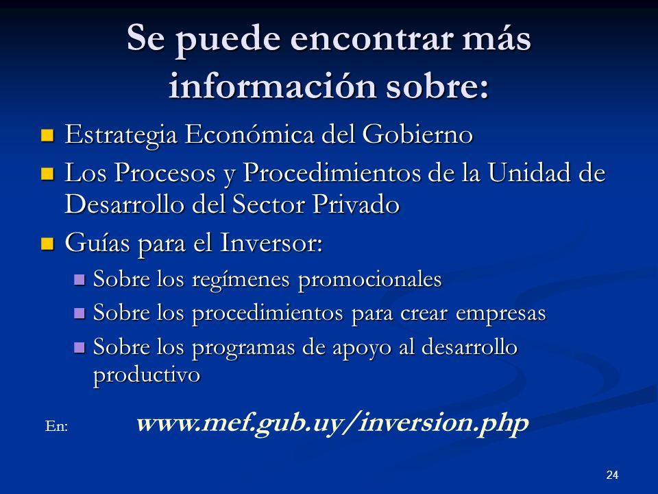 24 Estrategia Económica del Gobierno Estrategia Económica del Gobierno Los Procesos y Procedimientos de la Unidad de Desarrollo del Sector Privado Los
