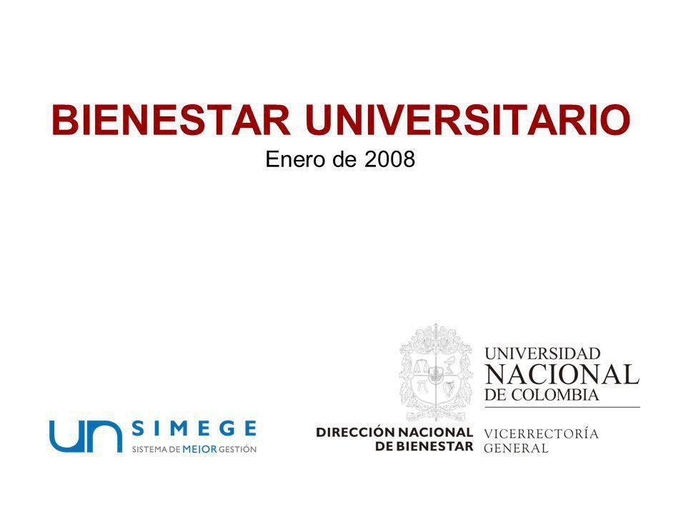 BIENESTAR UNIVERSITARIO Enero de 2008