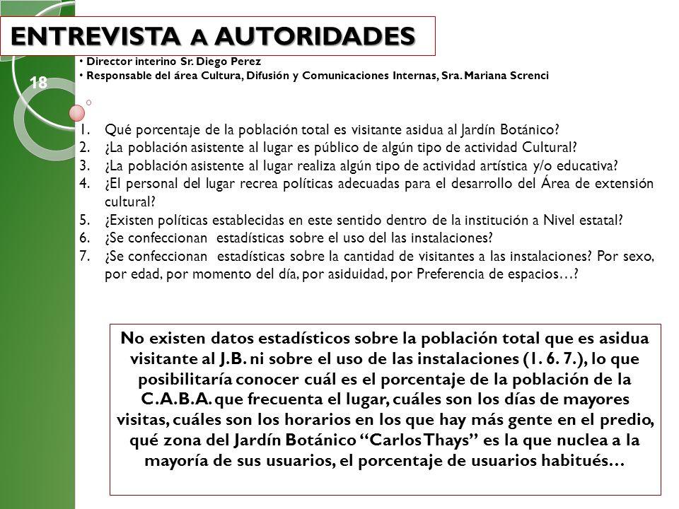 ENTREVISTA A AUTORIDADES ENTREVISTA A AUTORIDADES Director interino Sr. Diego Perez Responsable del área Cultura, Difusión y Comunicaciones Internas,