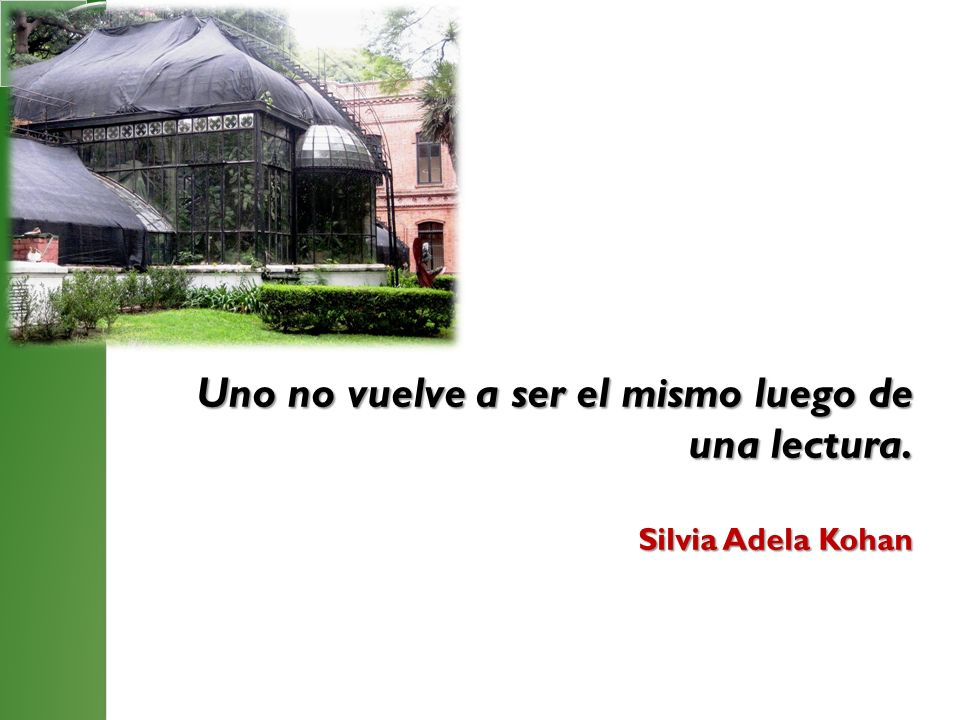 Uno no vuelve a ser el mismo luego de una lectura. Silvia Adela Kohan