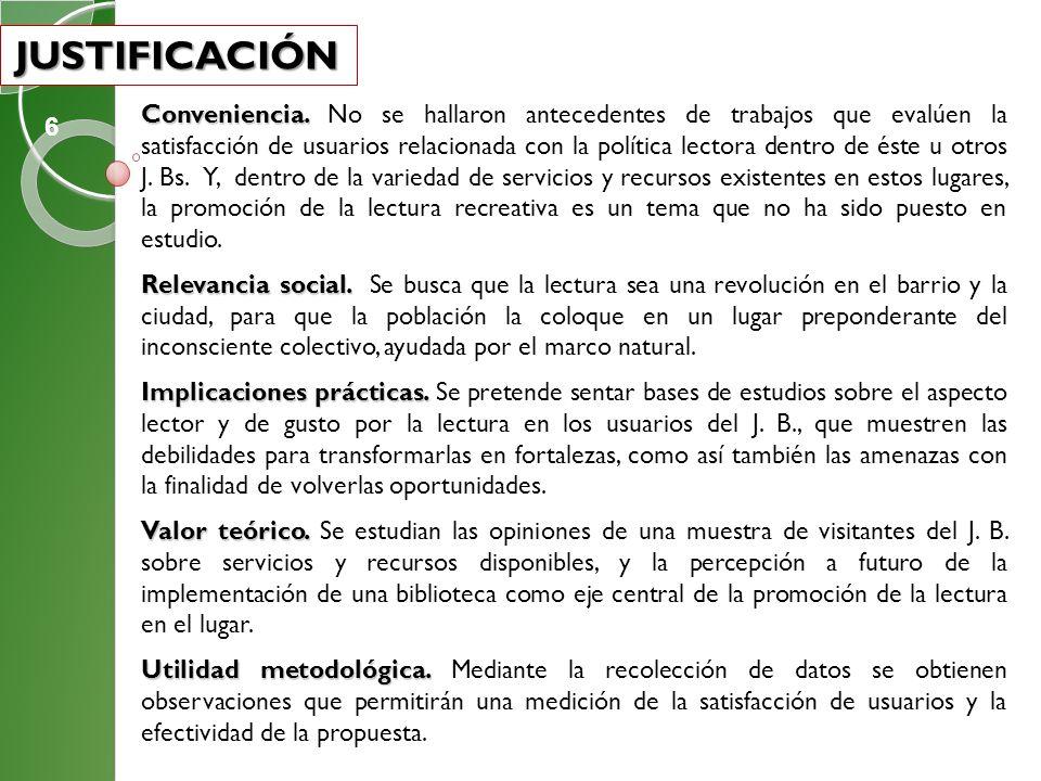 TIPO DE ESTUDIO Y METODOLOGÍA TIPO DE ESTUDIO Y METODOLOGÍA Investigación de tipo exploratoria Investigación de tipo exploratoria sobre la lectura en el J.