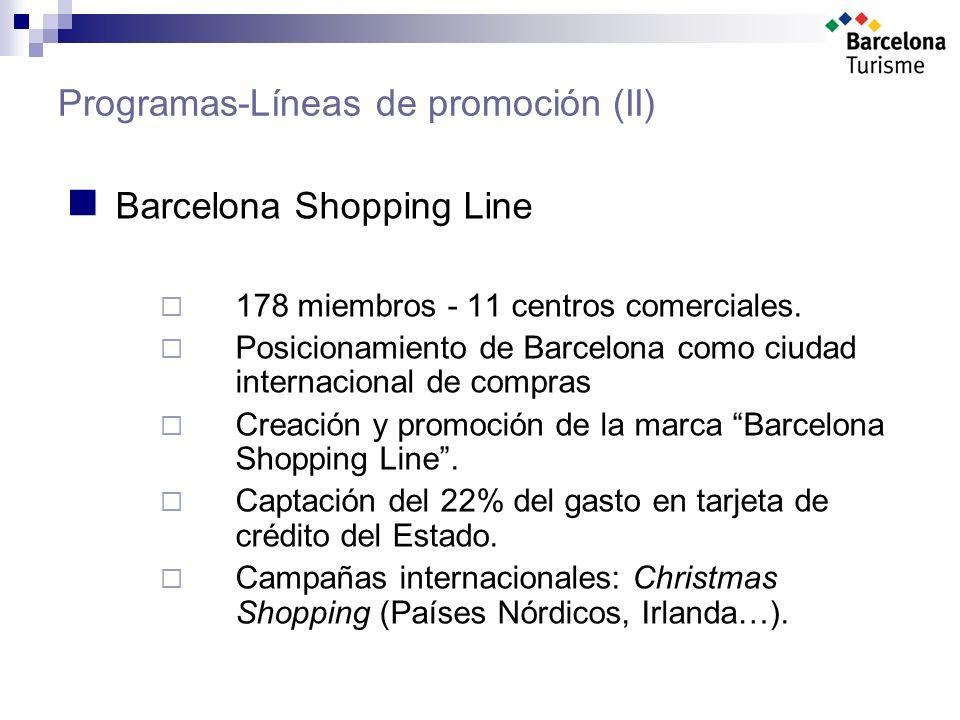 Programas-Líneas de promoción (II) Barcelona Shopping Line 178 miembros - 11 centros comerciales.