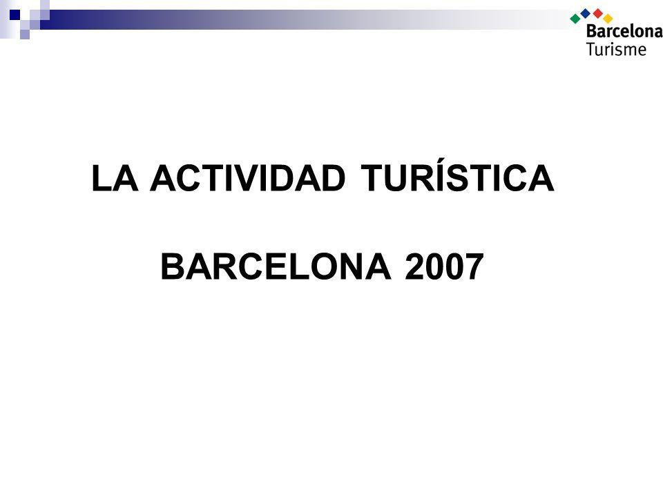 LA ACTIVIDAD TURÍSTICA BARCELONA 2007