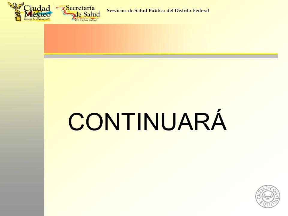 Servicios de Salud Pública del Distrito Federal CONTINUARÁ