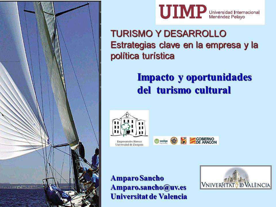 TURISMO Y DESARROLLO Estrategias clave en la empresa y la política turística Impacto y oportunidades Impacto y oportunidades del turismo cultural del