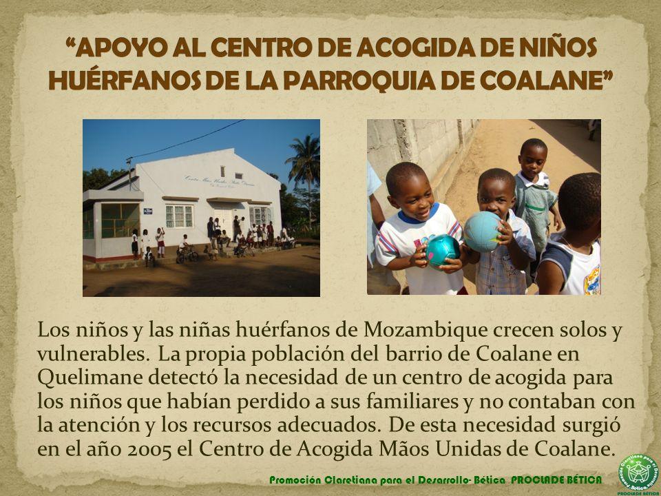 Los niños y las niñas huérfanos de Mozambique crecen solos y vulnerables. La propia población del barrio de Coalane en Quelimane detectó la necesidad