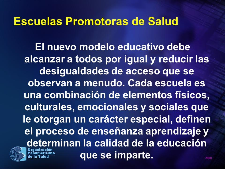 Escuelas Promotoras de Salud El nuevo modelo educativo debe alcanzar a todos por igual y reducir las desigualdades de acceso que se observan a menudo.