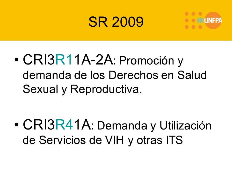 SR 2009 CRI3R11A-2A : Promoción y demanda de los Derechos en Salud Sexual y Reproductiva.