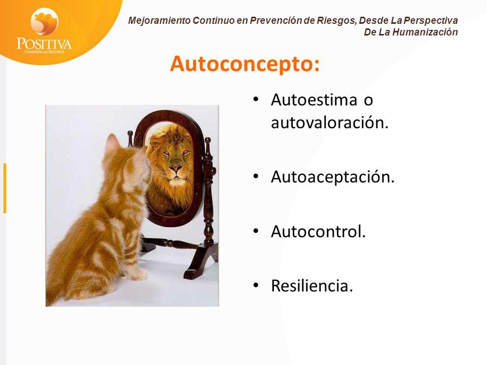 Autoconcepto: Autoestima o autovaloración.Autoaceptación.