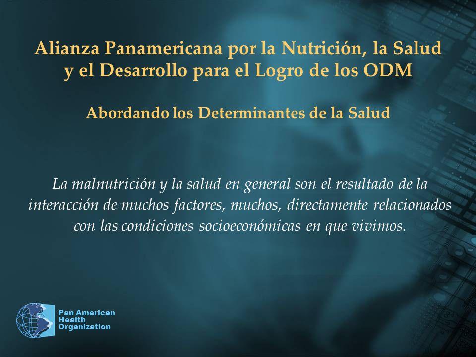 Pan American Health Organization Alianza Panamericana por la Nutrición, la Salud y el Desarrollo para el Logro de los ODM Abordando los Determinantes