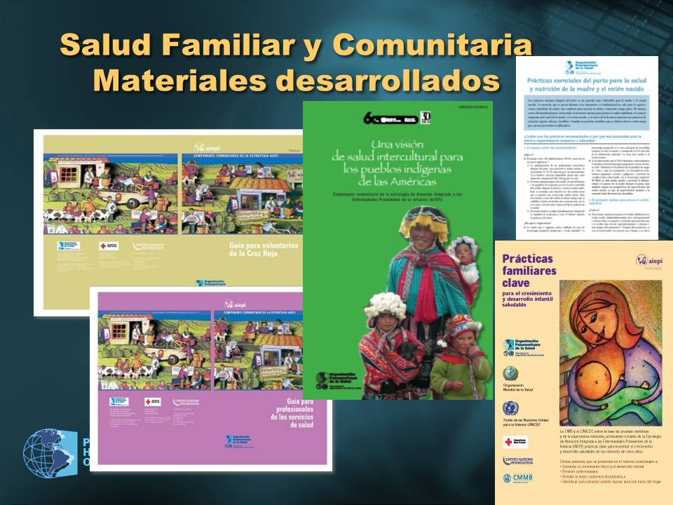 Pan American Health Organization Salud Familiar y Comunitaria Materiales desarrollados
