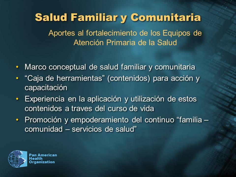 Pan American Health Organization Salud Familiar y Comunitaria Marco conceptual de salud familiar y comunitaria Caja de herramientas (contenidos) para