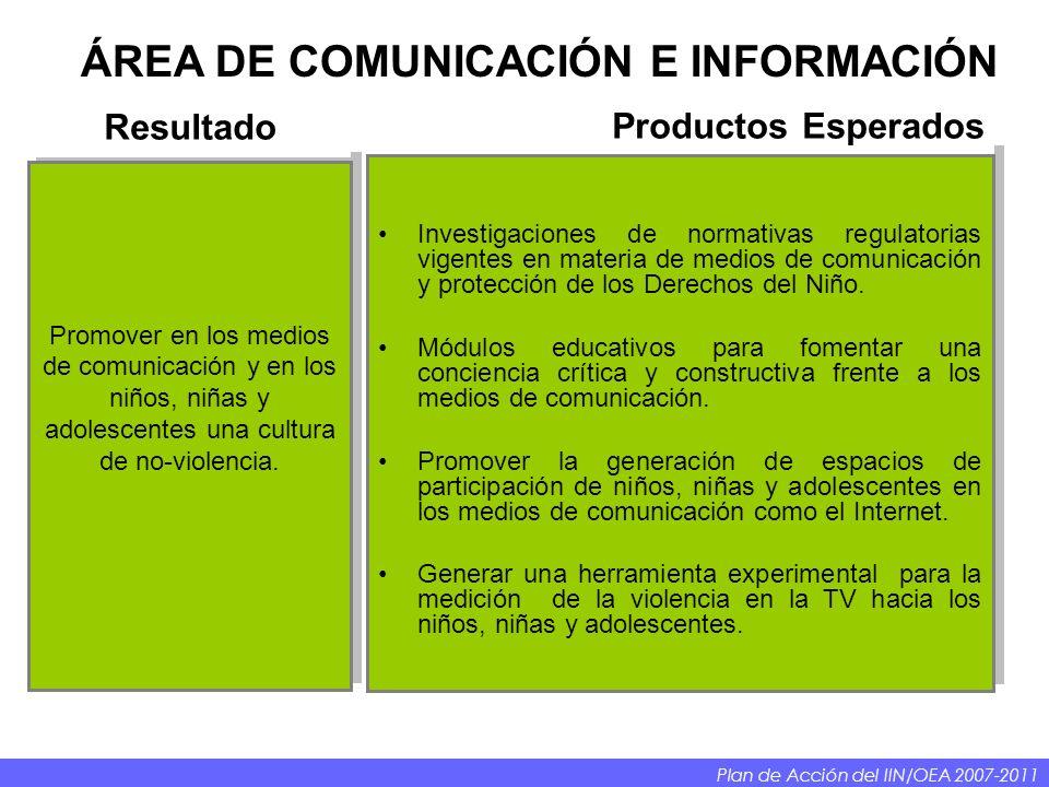 Investigaciones de normativas regulatorias vigentes en materia de medios de comunicación y protección de los Derechos del Niño.