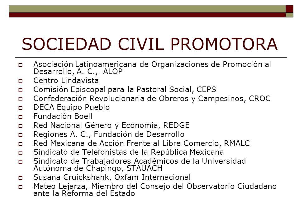 SOCIEDAD CIVIL PROMOTORA Asociación Latinoamericana de Organizaciones de Promoción al Desarrollo, A.