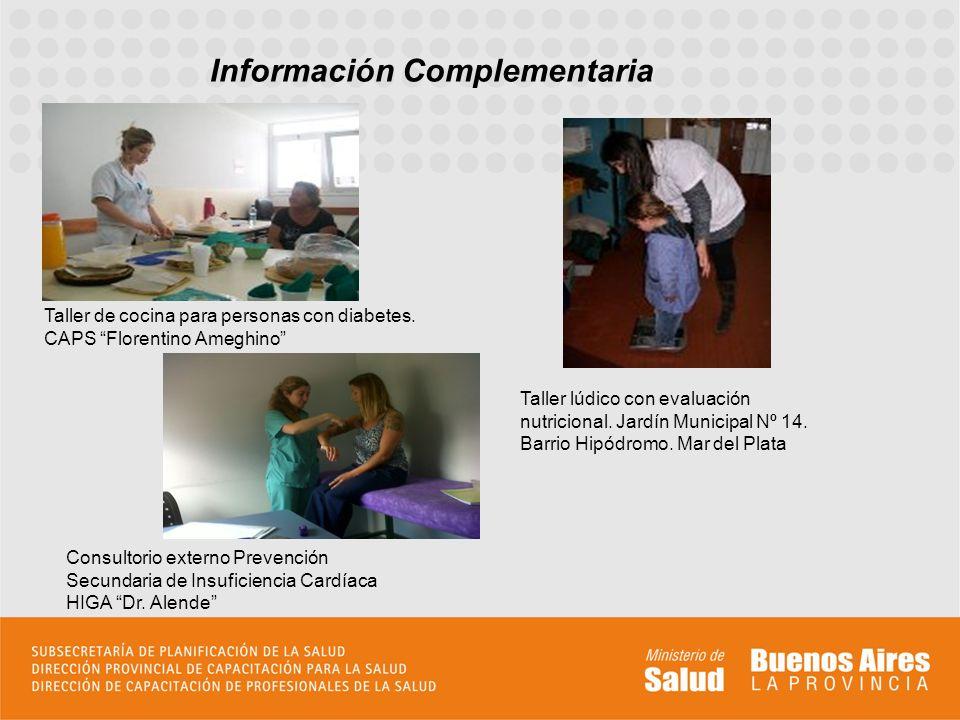 Información Complementaria Taller de cocina para personas con diabetes.