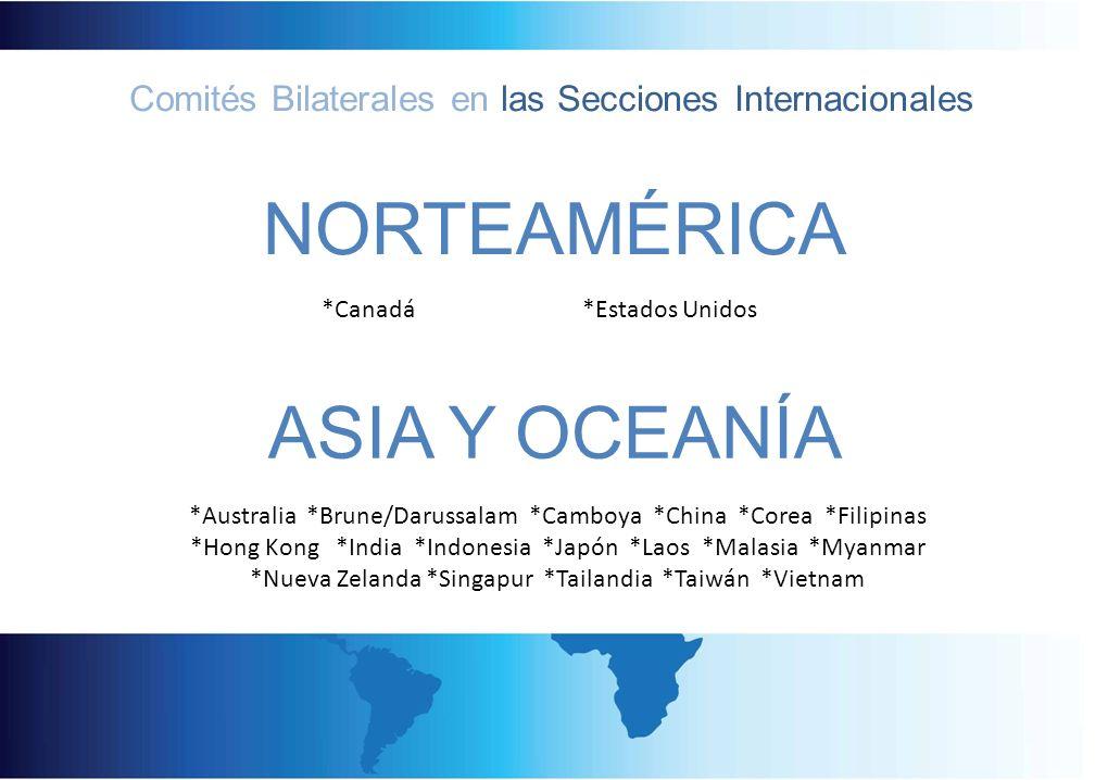 *Canadá *Estados Unidos *Australia *Brune/Darussalam *Camboya *China *Corea *Filipinas *Hong Kong *India *Indonesia *Japón *Laos *Malasia *Myanmar *Nu
