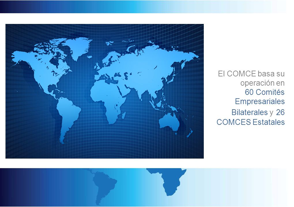 Estas relaciones se basan en convenios de colaboración que el COMCE tiene firmados con al menos un organismo similar en cada país.