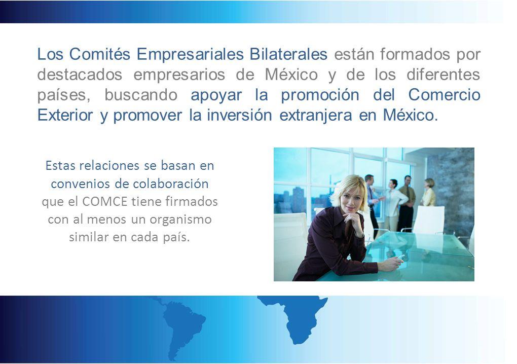 Estas relaciones se basan en convenios de colaboración que el COMCE tiene firmados con al menos un organismo similar en cada país. Los Comités Empresa