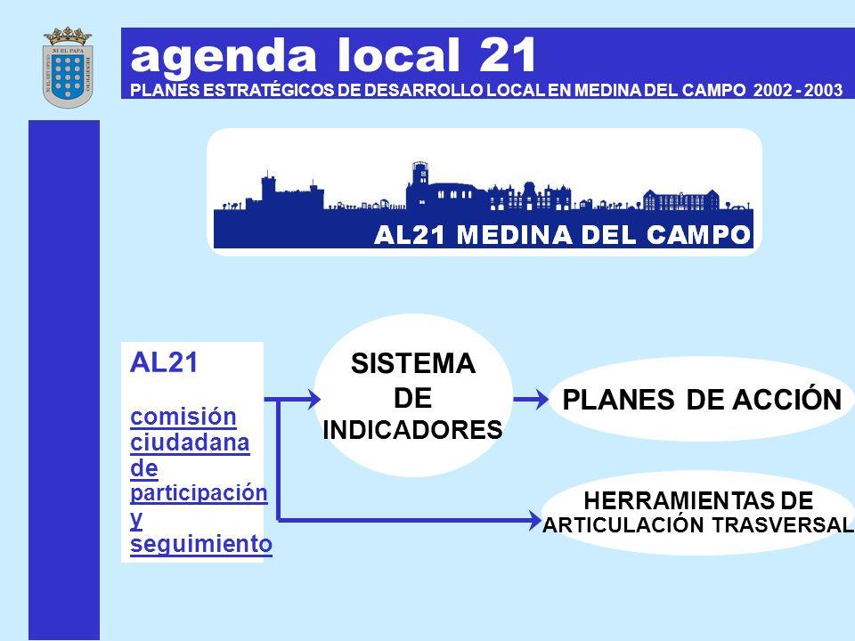 agenda local 21 PLANES ESTRATÉGICOS DE DESARROLLO LOCAL EN MEDINA DEL CAMPO 2002 - 2003 PLANES DE ACCIÓN AL21 comisión ciudadana de participación y se