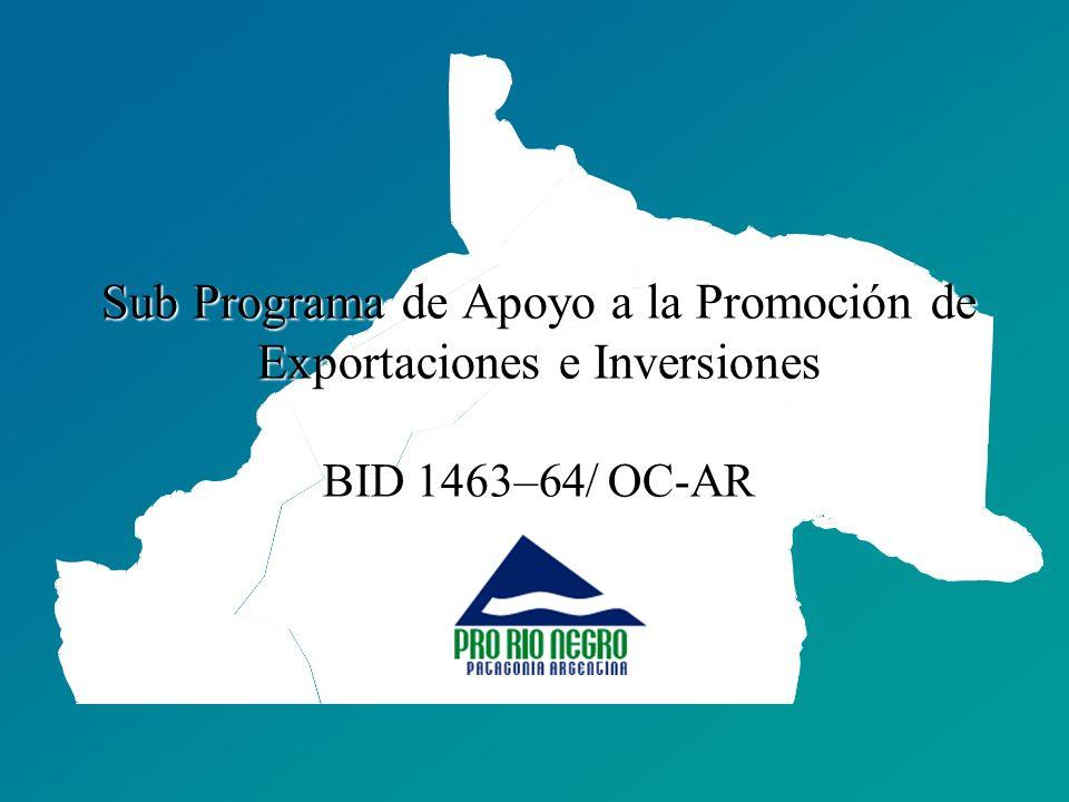 Sub Programa de Apoyo a la Promoción de Exportaciones e Inversiones BID 1463–64/ OC-AR