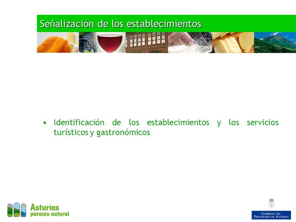 Señalización de los establecimientos Identificación de los establecimientos y los servicios turísticos y gastronómicos