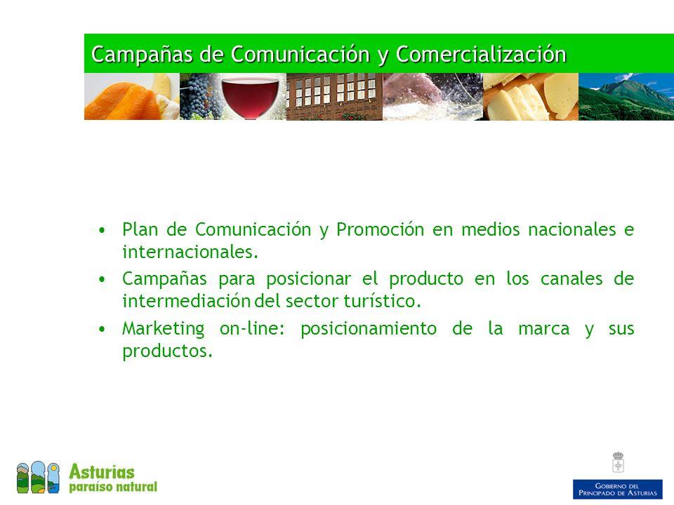 Campañas de Comunicación y Comercialización Plan de Comunicación y Promoción en medios nacionales e internacionales. Campañas para posicionar el produ