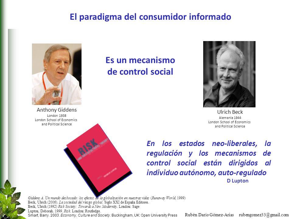 Rubén Darío Gómez-Arias rubengomez33@gmail.com Es un mecanismo de control social Giddens A. Un mundo desbocado: los efectos de la globalización en nue