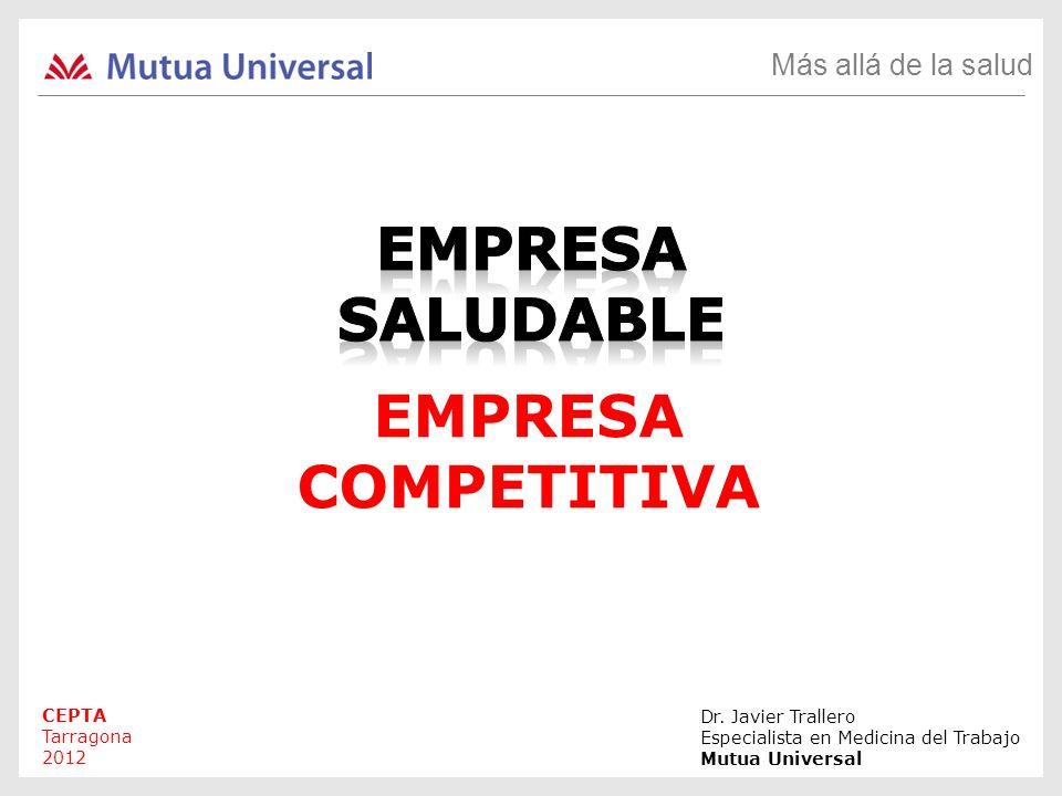 Más allá de la salud Dr. Javier Trallero Especialista en Medicina del Trabajo Mutua Universal EMPRESA COMPETITIVA CEPTA Tarragona 2012