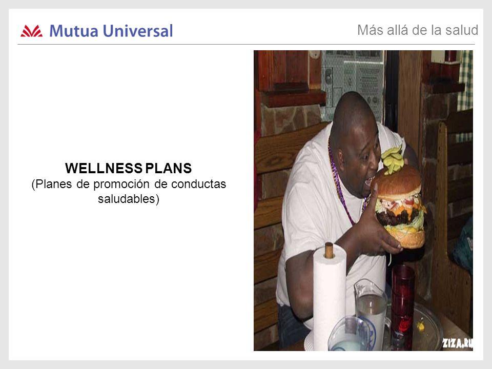WELLNESS PLANS (Planes de promoción de conductas saludables) Más allá de la salud