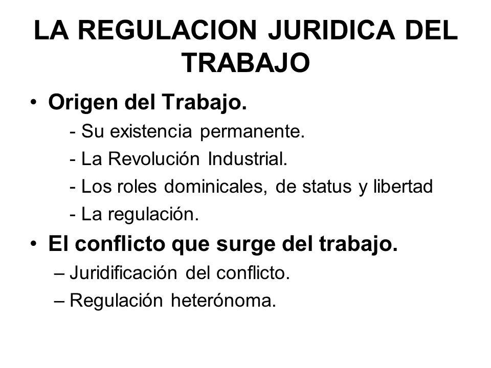 LA REGULACION Y EL PATERNALISMO Las primeras respuestas del sistema jurídico al conflicto laboral.