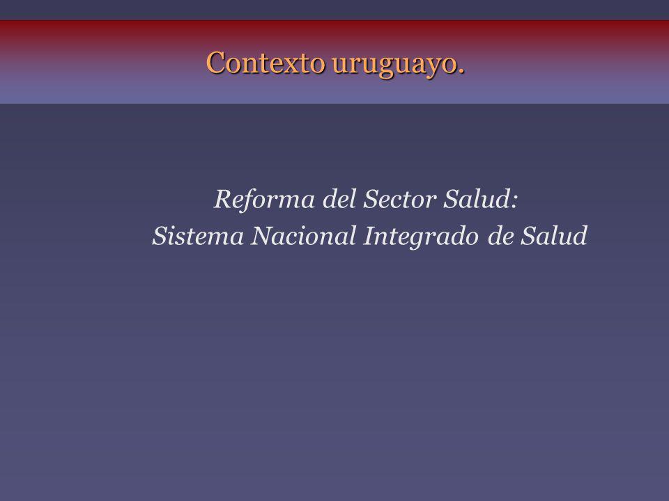 LA ESTRATEGIA DE LA REFORMA Cambio en el modelo de atención Cambio en el modelo de gestión Cambio en el modelo de financiamiento Sistema Nacional Integrado de Salud Seguro Nacional de Salud
