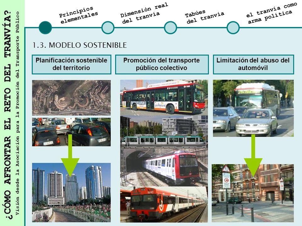¿CÓMO AFRONTAR EL RETO DEL TRANVÍA? Visión desde la Asociación para la Promoción del Transporte Público Principios elementales Dimensión real del tran
