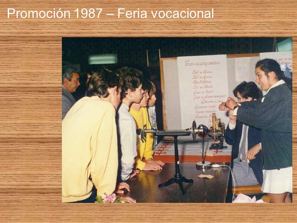 Promoción 1987 – Feria vocacional