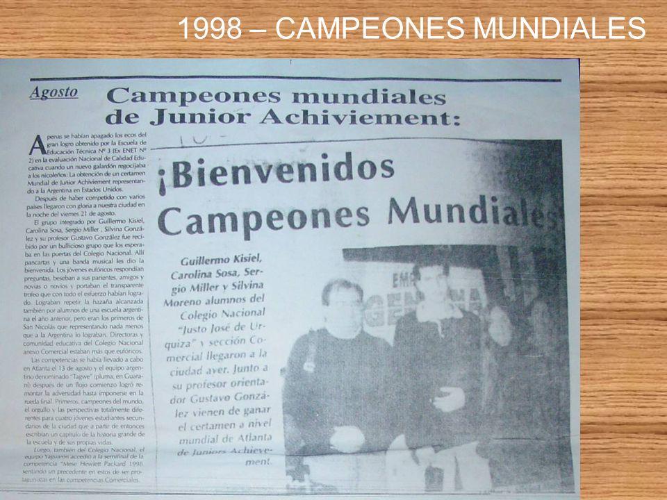 1998 – CAMPEONES MUNDIALES