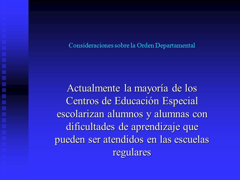 Consideraciones sobre la Orden Departamental 18-2001