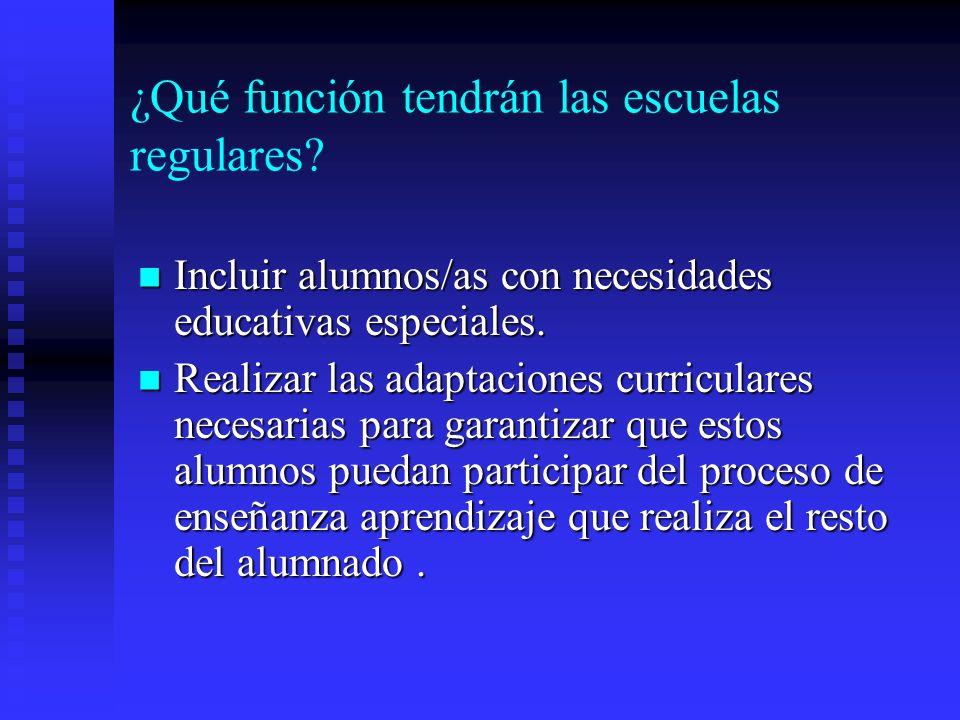 Por lo tanto... Los alumnos que presenten dificultades de aprendizaje, o con discapacidades que no impliquen modificaciones significativas del currícu
