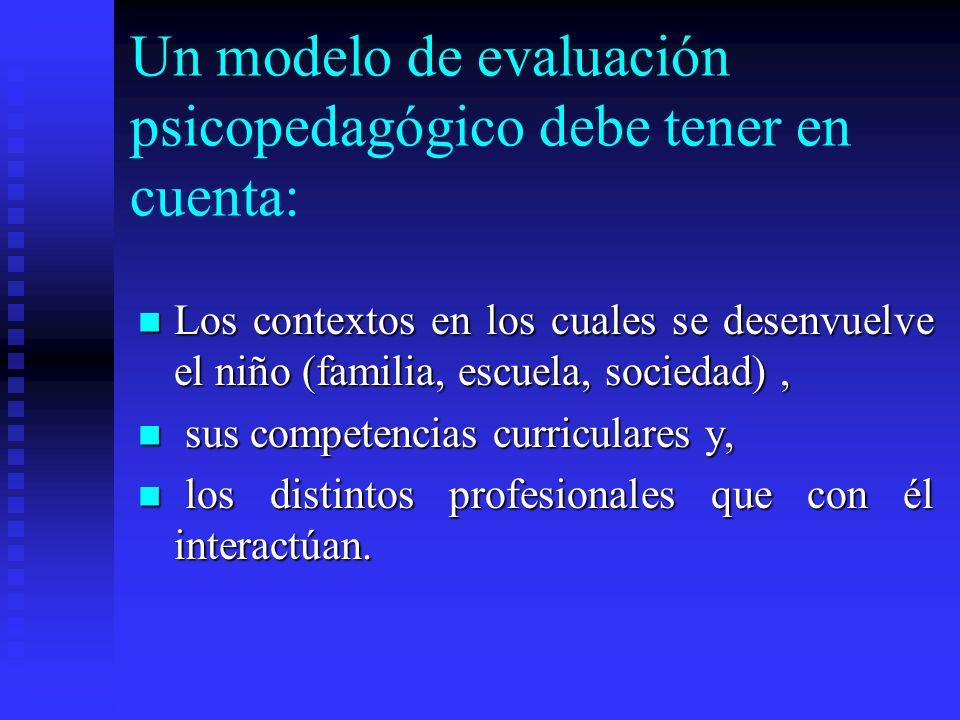 ¿Por qué? Porque un instrumento de evaluación psicopedagógico permite dar una respuesta educativa adecuada.