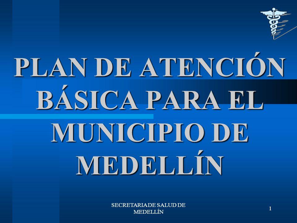 SECRETARIA DE SALUD DE MEDELLÍN 12 PROMOCIÓN Y PREVENCIÓN Actualización de la Información de interés en Salud Pública.